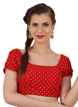 Red Georgette Blouse