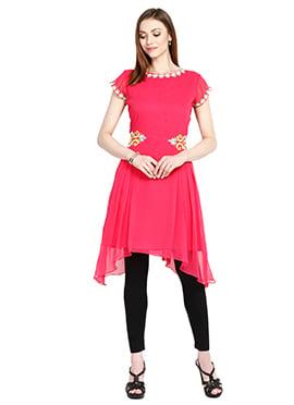 Dark Pink Georgette Tunic