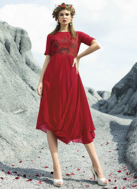 Red Georgette Tunic