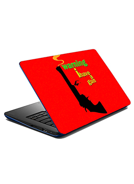 Red Gun Laptop Skin