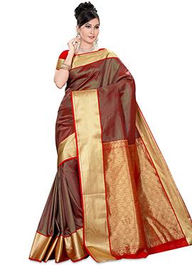 Red Kancheepuran Art Silk Saree