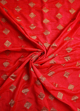 Red Art Silk Fabric