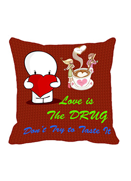 Red Love is a Drug Cushion Cover