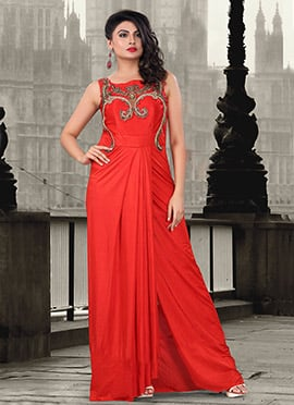 Red Lycra Gown
