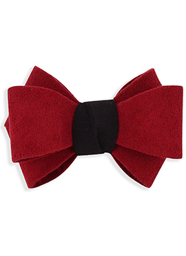 Red N Black Bow Style Rubber Band
