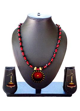 Red N Black Necklace Set