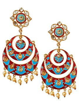 Red N Blue Dangler Earrings