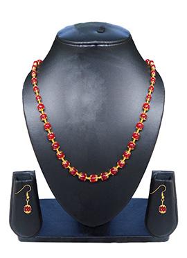 Red N Gold Necklace Set