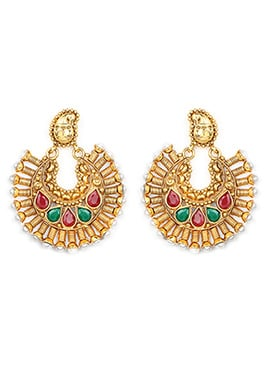 Red N Green Chaand Bali Earring