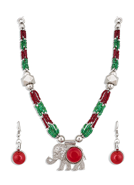 Red N Green Necklace