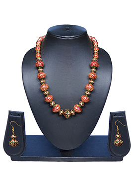 Red N Green Necklace Set