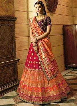 222de713f Glorious Bridal Lehengas. Majestic Bridal Lehenga Cholis featuring  intricate floral and foliage embroidery all over!