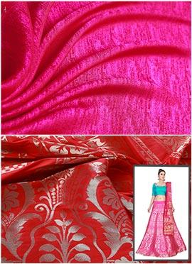 Red N Pink Umbrella Lehenga Choli