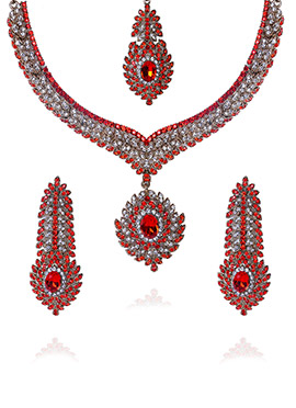 Red N White Necklace Set