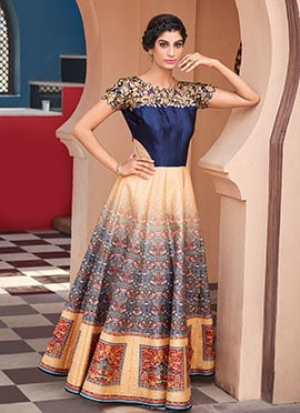 Red N Yellow Anarkali Gown