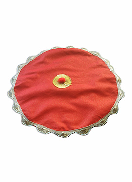 Red Puja Thali Cover