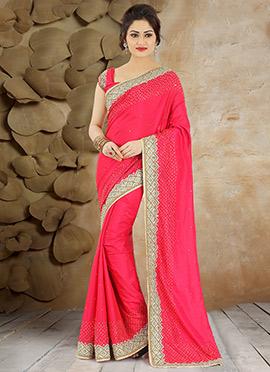 Red Pure Handloom Silk Saree