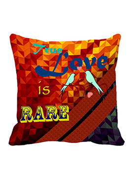 Red Rare Love Polyester Cushion Cover