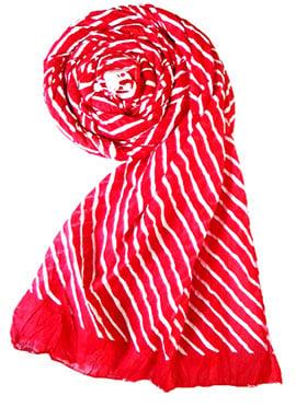 Red Raw Silk Stole