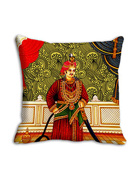 Red Traditional King Cushion Cover