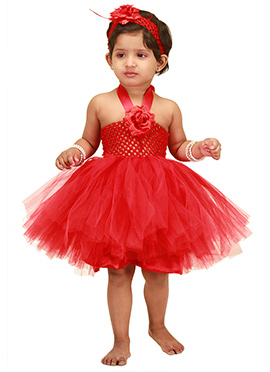Red Tulle Kids Tutu Dress