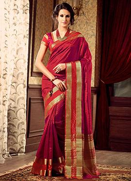 Red Uppada Art Silk Saree