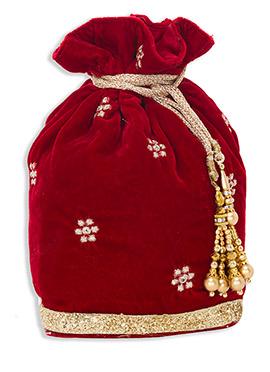Red Velvet Potli Bag