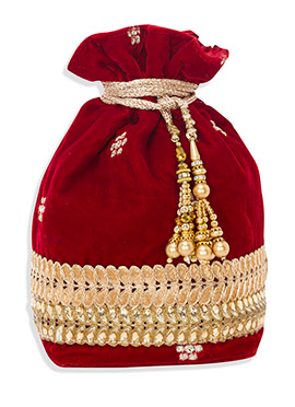 Red Velvet Potli Bag