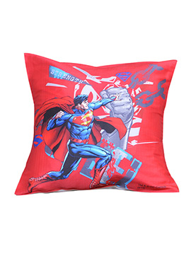 Red Warner Brother Super Man Cushion Cover