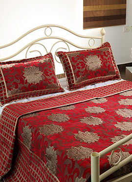 Red Wool Bed Spread