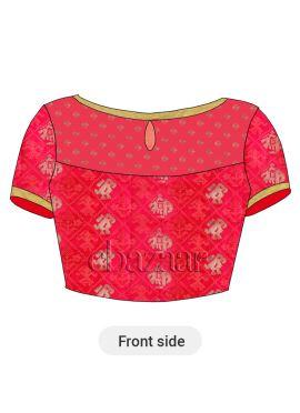 Reddish Pink Art Silk Blouse