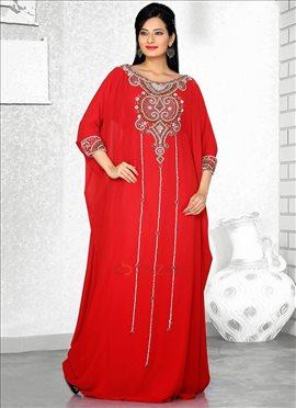 Resplendent Red Farasha Fustan