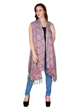 Reversible Famous By Payal Kapoor Woolen Shrug
