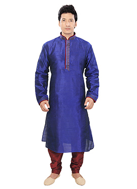 Royal Blue Art Silk Kurta Pyjama