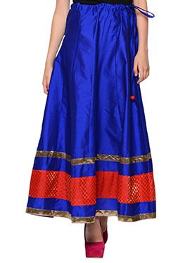 Royal Blue Art Silk Skirt