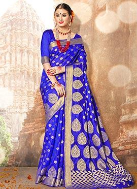 Royal Blue Benarasi Silk Saree