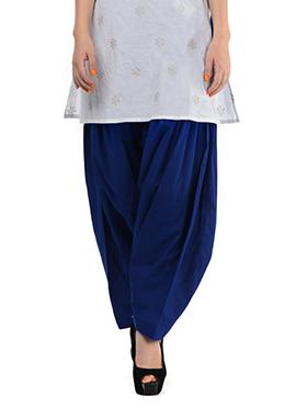 Royal Blue Blended Cotton Patiala Pant