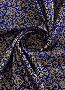 Royal Blue Brocade Fabric