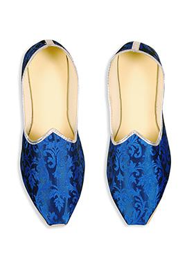 Ae Dil Hai Mushkil Royal Blue Brocade Mojris