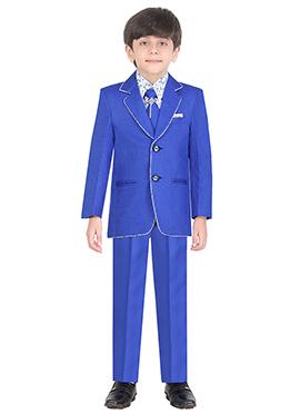 Royal Blue Cotton Kids Suit