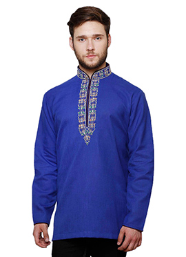 Royal Blue Cotton Kurta