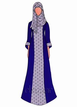 Royal Blue Georgette Abaya
