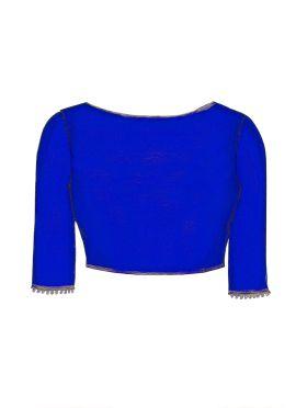 Royal Blue Georgette Blouse
