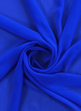 Royal Blue Georgette Fabric