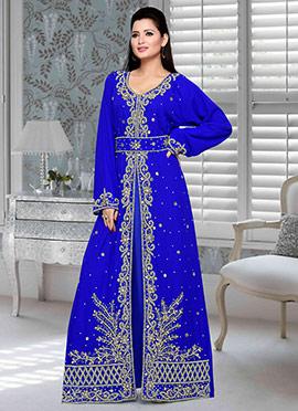 Royal Blue Georgette Fustan