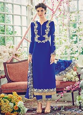 Royal Blue Georgette Pakistani Suit