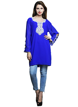 Royal Blue Georgette Tunic