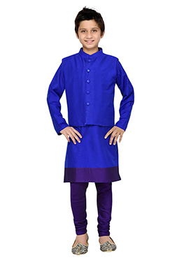 Royal Blue K N U Boys Bandi Set