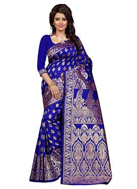 1ef4648606 Buy Royal Blue Sarees   Royal Blue Color Sarees   Online Wedding ...