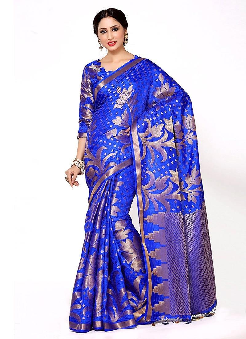Blue sarees online shopping
